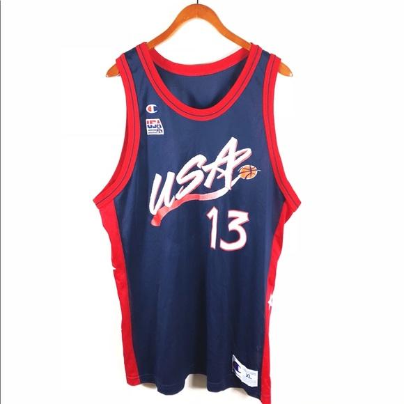 more photos 1f4dd b5ed3 Shaq O'Neal Team USA basketball Champion jersey